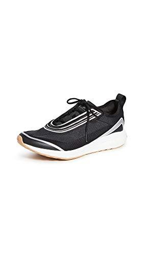 adidas by Stella McCartney Women's Boston S. Sneakers, Black/Silvmt/Carboa, 5.5 Medium US