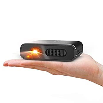 Mini Projector - Artlii Mana Portable DLP Projector with 5200mAh Built-in Battery for Travel Support 1080P WIFI 3D and Auto Keystone Correction WIFI Projector for IOS&Android Phone