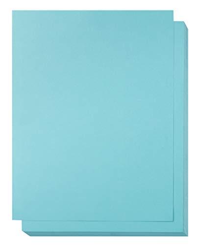 Papel de cartón offset color azul, compatible con impresora láser (8.5 x 11 pulgadas, 50 unidades)