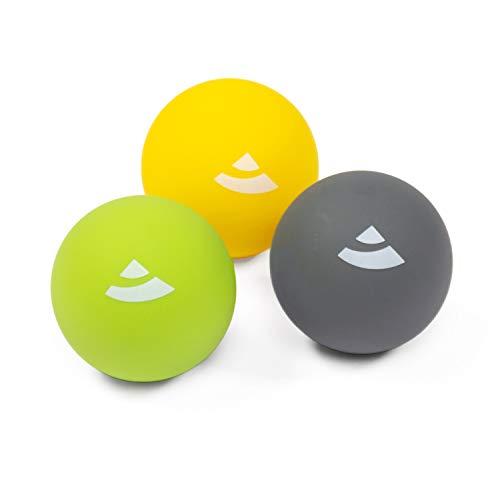 BODHI 3-częściowy zestaw piłek do masażu Ø ok. 6,5 cm, do punktowego samodzielnego masażu mięśni i powięzi, w przypadku napięć lub do regeneracji po treningu