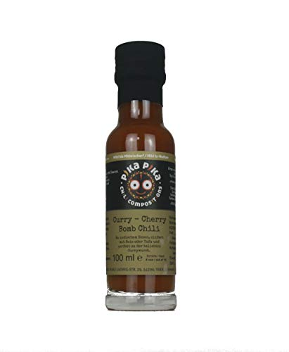 Curry – Cherry Bomb Chili Currysauce / Inhalt 100 ml / Schärfegrad 6 von 10 / Slow Food Manufaktur
