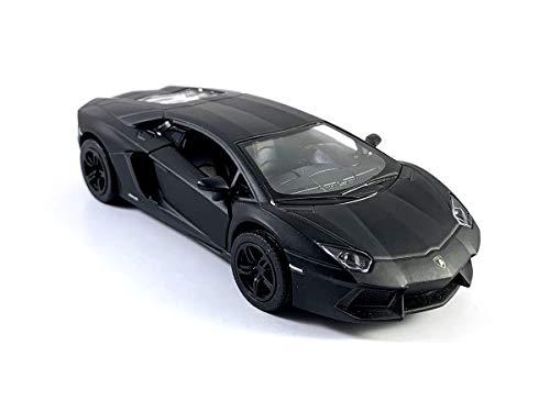 HCK 2011 Lambo Aventador LP700-4 - Pull Back Super Sports Toy Cars in Matte Black