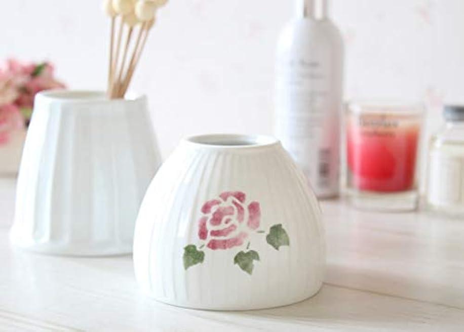 気付くマント普遍的なマニーローズ 陶器 ジュポン型アロマカバー