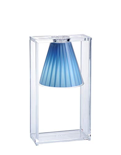 Kartell Light-Air, Lampe de Table, Cristal Bleu