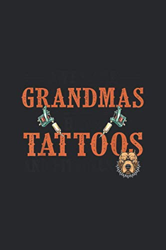Awesome Grandmas Have Tattoos And Pitbulls Gift Dog: Notebook Journal
