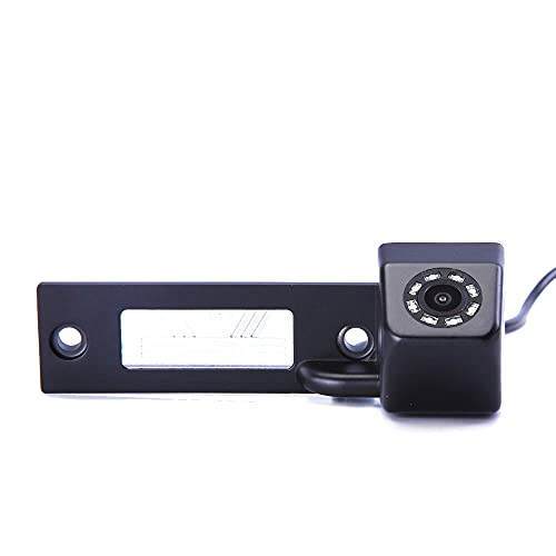HD CCD IP68 Luz de la Placa del Auto Marcha Atrás Color Aparcamiento Cámara 8LED Visión Nocturna Sistema Ayuda aparcar para VW Caddy/Passat/Touran/Jetta/Sagitar/T5/Golf/Sharan/Polo/Bora/Phaeto