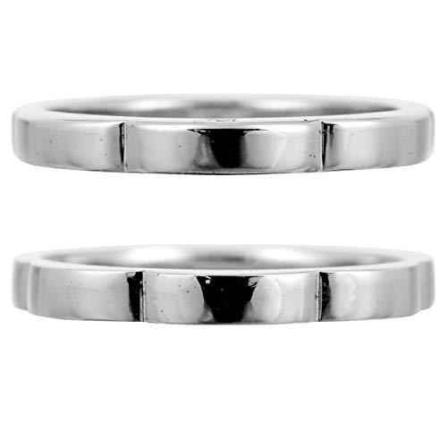 [ココカル]cococaru ペアリング シルバー リング2本セット ダイヤモンド マリッジリング 結婚指輪 日本製(レディースサイズ11号 メンズサイズ11号)