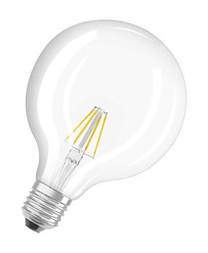 Osram LED Star Classic Globe, in Ballform mit E27-Sockel, Nicht Dimmbar, Ersetzt 60 Watt, Filamentstil Klar, Warmweiß – 2700 Kelvin, 1er-Pack - 8