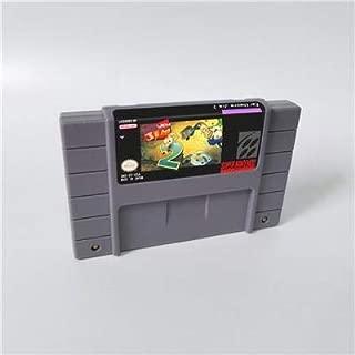 Game card - Game Cartridge 16 Bit SNES , Game Earthworm Jim 2 - Action Game Card US Version English Language