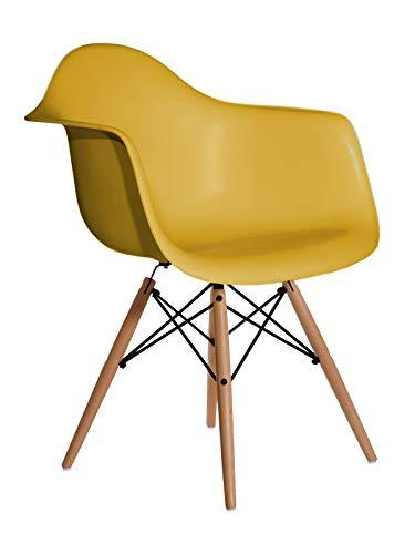 Aryana Home-Poltrona replica Eames Mostarda