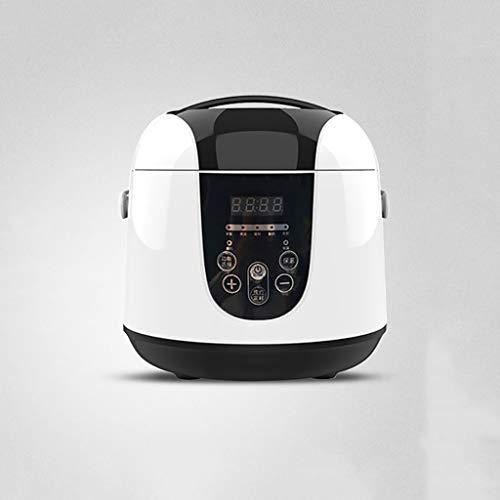 SUOMO Reiskocher 2.0L Reiskocher, Mini-Reiskocher, Slow Cooker, Dampfgarer, Joghurt-Kuchenbereiter und Wärmer, schnelles Kochen für die Küche zu Hause (2-4 Personen) (Color : Black)