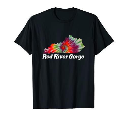 Tinte corbata Kentucky Red River Gorge Climbing RRG Camiseta