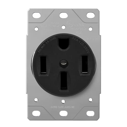 ENERLITES 50 Amp Range Receptacle Outlet for RV and Electric...
