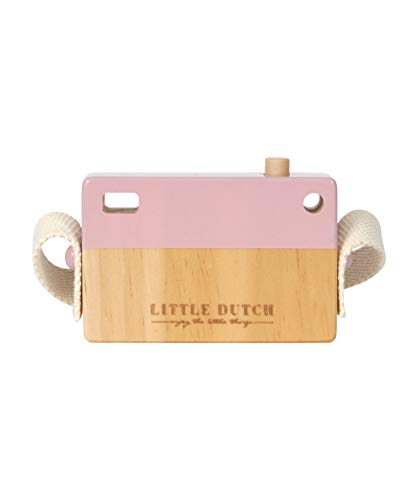 Little Dutch 4435 Holz-Kamera, Mehrfarbig (Adventure Pink),  10 x 6,5 cm (LxBxH) - 2