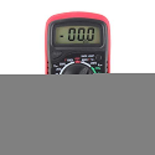 XUSHEN-HU Herramientas Inicio multímetro del amperímetro AC DC OHM Medidor digital LCD Voltímetro Rojo Digital