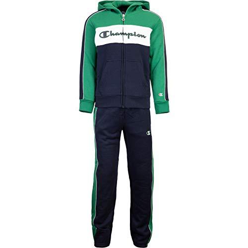 Champion Tricolor Kids Track Suit Trainingsanzug (L, Green/Navy)