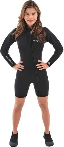 NeoSport Wetsuits Women's Premium Neoprene 3mm Step-In Jacket, Black, 12 - Diving, Snorkeling & Wakeboarding