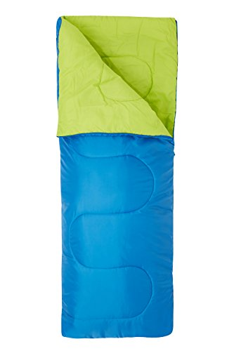 Mountain Warehouse Saco de Dormir Basecamp para Acampar tamaño Mini - 160 x 65 cm, Saco de Acampada de Cuidado fácil para niños, con Aislamiento térmico - para niños 1