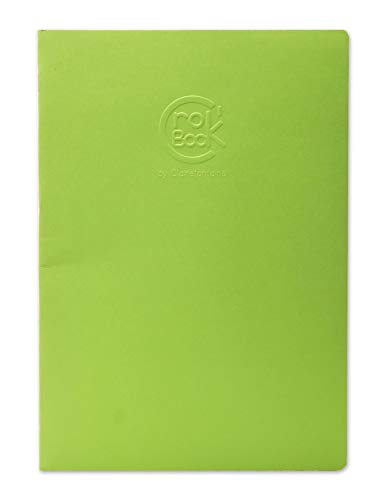 Clairefontaine 6032C Skizzenheft Crok'Book DIN A4 in Hochformat (90g, 24 Blatt, ideal zum Skizzieren, Notieren oder Zeichnen) 1 Stück farbig sortiert