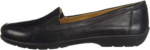 NATURAL SOUL Women's Kacy Loafer, Black Leather, 8 W US