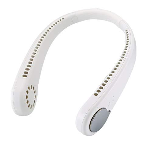 DFSDG Mini Mini USB Air Cooler Cuello Atráceos para Cuello de Cuello con Ventiladores con Ventiladores de Manos Libres Recargables USB Acondicionador de refrigeración de Viento Fuerte
