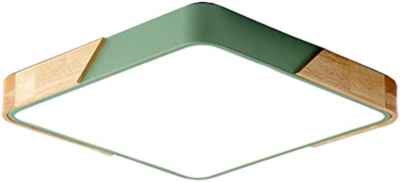 OOFAY Lights Modernes Metall & Holz ultradünne LED-Deckenleuchte Warmes Licht Weies Licht (2000K-3500K) Grüne Deckenleuchten für Wohnzimmer Schlafzimmer,WeißLight,30cm
