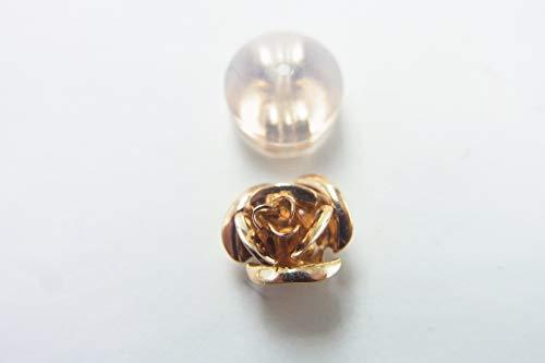 (ジュエリーWADA) K18 PG (ピンクゴールド) 薔薇の花 ピアス 片方のみ(新品) (ケース・保証書付) (994)