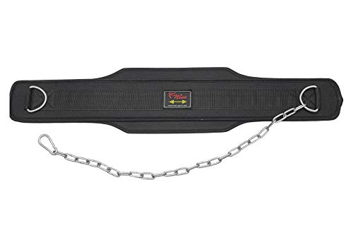 Weight Lifting Dipping Belt with Chain, Fitness Exercise Bel
