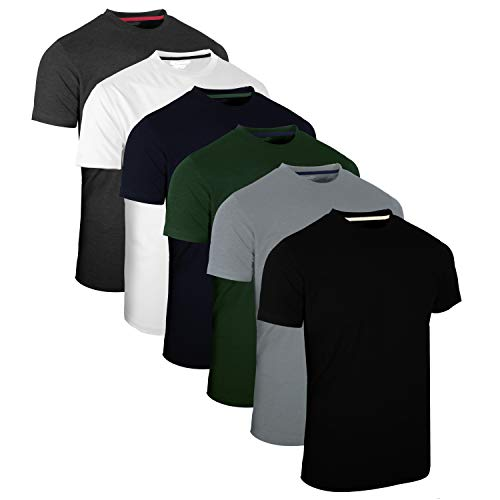 FULL TIME SPORTS 6 Pack Sortiert Rundhals Tech T-Shirts (1) X-Large