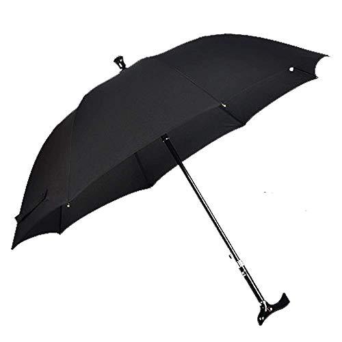 IF.HLMF Multifunktionaler Gehstock kreativer Regenschirm mit langem Griff, Winddicht, Bergsteiger Regenschirm tragbar Outdoor Fallschirm geeignet für Mittelalter und ältere Menschen