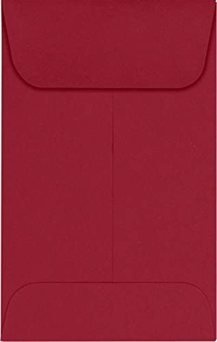 LUXPaper 4 years warranty Coin Envelopes Garnet 2 1 2-Inch 50-Cou Max 72% OFF 4-Inch 3 x