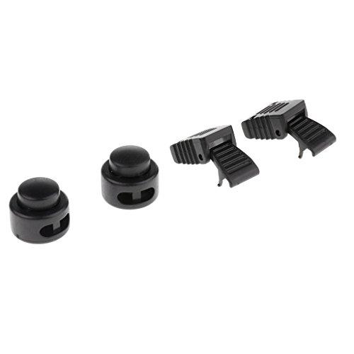 MagiDeal 1 Paar Schnellschnürsystem inkl. Schnellverschluss Lock für Schuhe,perfekte Sitz - Schwarz 3