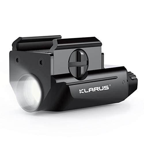 Klarus Pistol Light, Gun Rail Light 600 Lumens Tactical Flashlight, USB Rechargeable Compact Weapon Flashlight