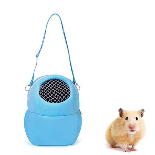 Allsmart Pet Carrier Bag, Velvet Hamster Sleeping Bag, Portable Travel Pet Backbag Pouch for Hamster Rat Hedgehog Rabbit