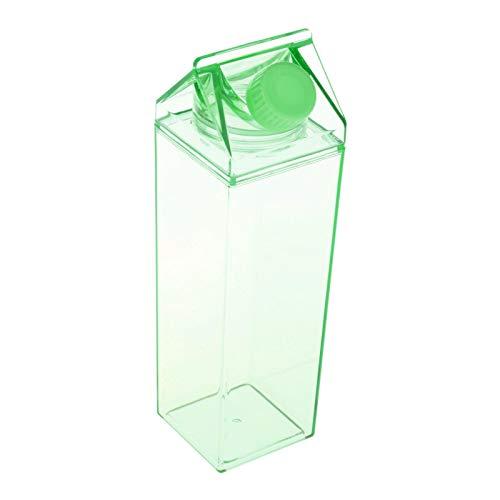 perfk Cartón de Leche Botella de Agua Botellas de Leche Cuadradas Transparentes Botella de Té Helado Botella de 500 Ml - F, Individual