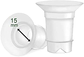 Maymom Flange Inserts 15 mm Compatible with Medela and Spectra 24 mm Shields/Flanges. Use with Medela Freestyle and Sonata to Reduce Nipple Tunnel Down to 15 mm; Also Fits Freemie 25 mm Cups. 2pc
