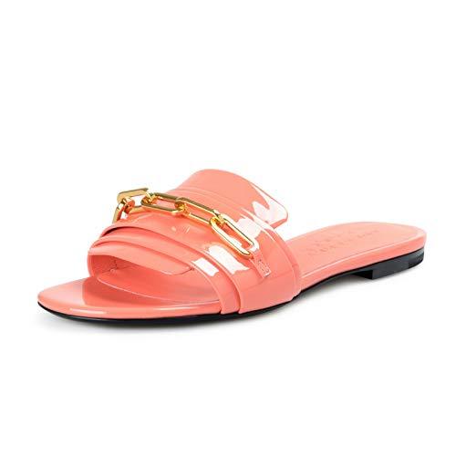 BURBERRY London Women's COLEFORD Patent Leather Slides Flip Flop Shoes Sz US 6.5 IT 36.5 Pink