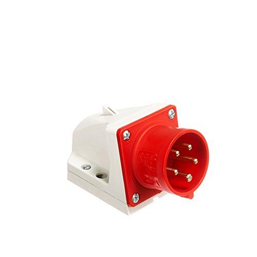 PC-Electric PCE5156 CEE-Wandgerätestecker 5polig 16A, 5 V