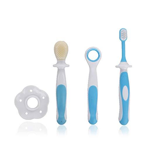 newin Star Brosse à dents avec cheveux mous d'entraînement pour enfant Oral en silicone brosse à dents pour enfants entre 0 – 3 ans (un ensemble)
