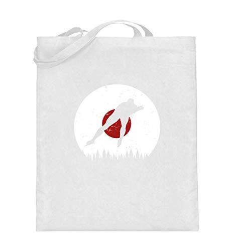Generisch Bolsa de yute japonesa para deportes de hielo, de JP Eissport, bolsa de algodón para invierno, color Blanco, talla 38cm-42cm