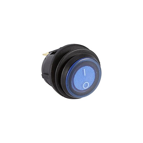 12v 16a Coche Interruptor Basculante Redondo Interruptor LED, Interruptor Redondo LED de 3 Pines Control de Encendido/apagado, Interruptor Basculante Azul para Automóvil Camión Barco Marine Auto
