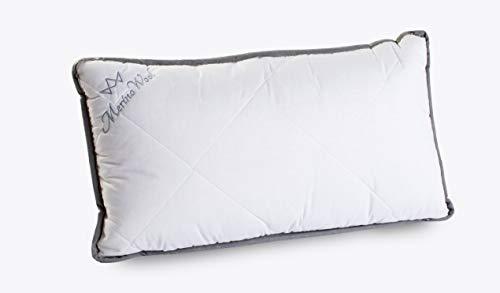 Paquete de 2 almohadas 100% de lana de cordero merino con cremallera, funda de almohada de lana natural de 900 g / m2