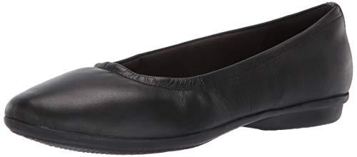 Clarks Women's Gracelin Vail Ballet Flat, Black Leather, 055 M US