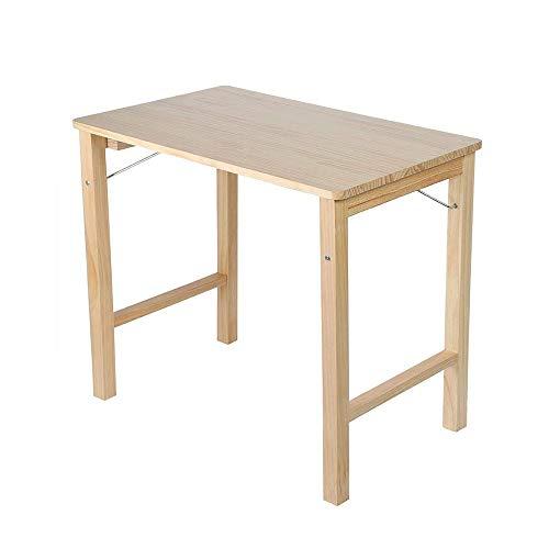 JCCOZ-T - Tavolino pieghevole in legno, portatile, pieghevole, tavolo da pranzo in bambù, per interni, esterni, picnic, feste, campeggio, ecc.