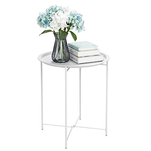 Finnhomy Small Round Side End Table, Sofa Table