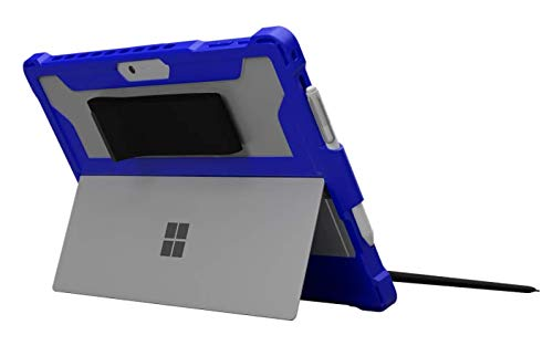 MAXCases Extreme Shell for Microsoft Surface Pro 5 6 & 7 2017/2018/2019 Rugged Protective Case Military Drop Tested - Protective Stand, Stylus Pen Holder, Laptop Case (Blue (V2))