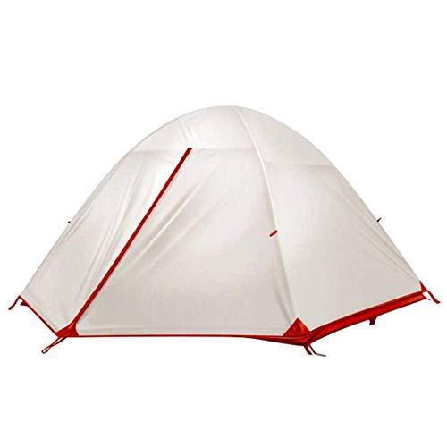 LKK-KK Silica Gel Carpa Doble Doble Impermeable Anti-Mosquitos al Aire Libre Tienda de campaña portátil, Blanca