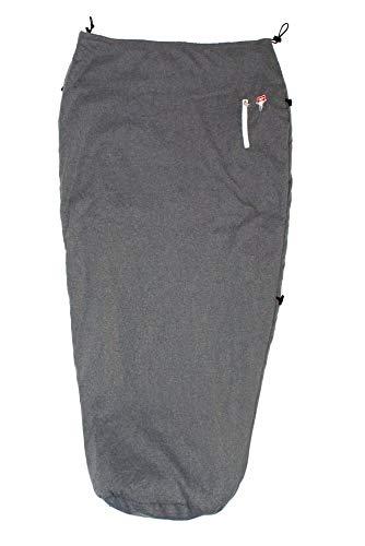 Grüezi-Bag Feater - The Feet Heater, beheizbarer Zusatzsack, hüfthoch, für jeden Schlafsack, 160 bis 200 cm, Packmaß 23 x 17 x 12 cm, Volumen 5,2 l