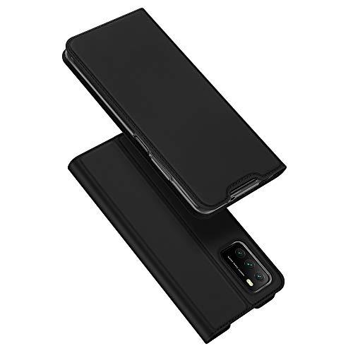 DUX DUCIS Funda Xiaomi Poco M3, Funda Xiaomi Redmi 9T, PU Cuero Flip Carcasa Fundas Móvil de Tapa Libro para Xiaomi Poco M3 / Xiaomi Redmi 9T(Negro)