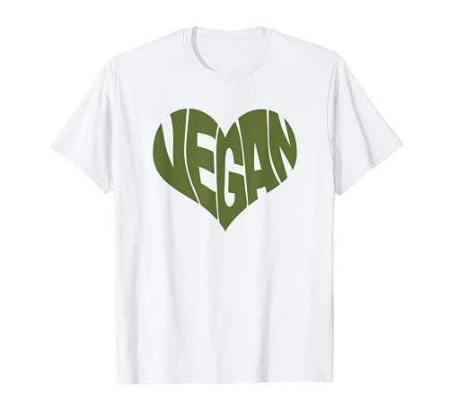 Vegan Saying Heart Shape Design / Promote Plant Based Diet T-Shirt